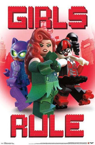 Lego Batman - Girls Rule Wall Poster 22x34 RP14616 UPC882663046164