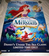 Little Mermaid, 2-Disc Special Edition Movie Poster 27x40 Used Walt Disney