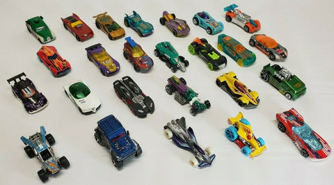 .50 Loose Hot Wheels Matchbox Die Cast Cars Mix of New and Used.