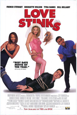 Love Stinks Movie Poster 27x40 Used Dyllan Christopher, Ivana Milicevic, Renata Scott, Shanna Moakler, John Sencio, Dale Raoul, French Stewart, Gretchen Palmer, Shae Marks, Michael Caldwell, Brett Miller, Ellis Williams, Kevin P Farley, Tyra Banks