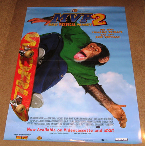 MVP 2 Most Vertical Primate Movie Poster 27x40 Used  Jane Sowerby, David Kaye