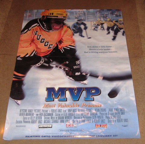 MVP Most Valuable Primate Movie Poster 27x40 Used  Russell Ferrier, Mac