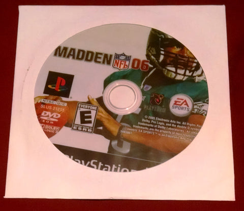 Madden NFL 06 (Sony PlayStation 2, 2005) Video Game UPC: 014633149388