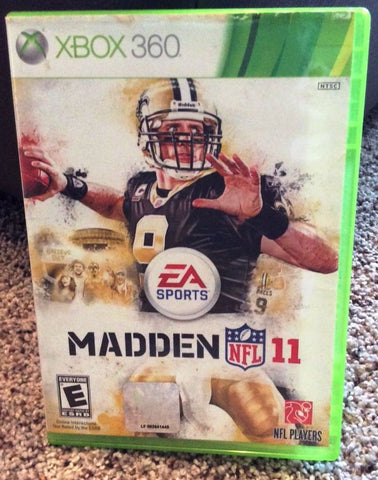 Madden NFL 11 Microsoft Xbox 360 (2010) Video Game UPC: 014633193572