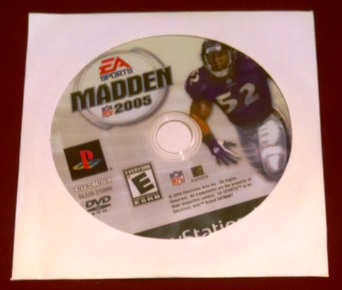 Madden NFL 2005 (Playstation 2 Video Game) EA Sports Football Video Game UPC: 014633147650