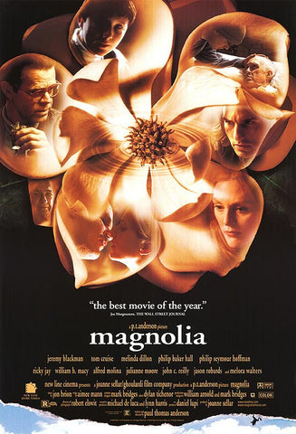 Magnoila 1999 Movie Poster 27x40 Used Tom Cruise, Philip Seymour Hoffman, Julianne Moore