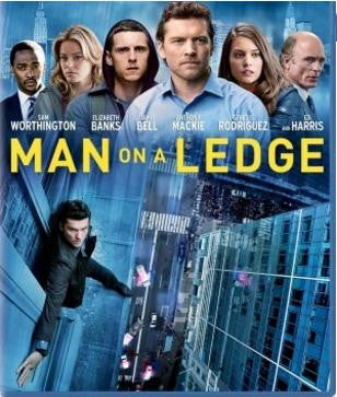 Man on a Ledge Movie Poster 27X40 Used Robert Clohessy, Ed Harris, Jamie Bell, Titus Welliver, Kyra Sedgwick, Sam Worthington, John Dossett, Anthony Mackie, Jabari Gray, Joe Lisi, Elizabeth Banks, Jonathan Walker