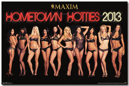 Maxim – Hometown Hotties 13 Poster 22x34 RP5939  UPC017681059395
