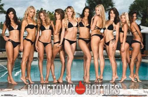 Maxim - Hometown Hotties 14 Poster RP2269 Swimsuit