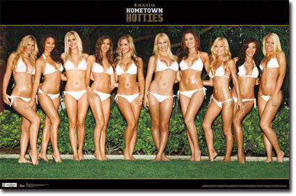 Maxim – Hotties in White Poster 22x34	 RP5624 UPC017681056240