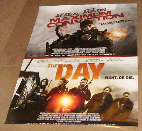 Maximum Conviction & The Day Movie Poster 27x40 2012 Steve Austin Steven Seagal