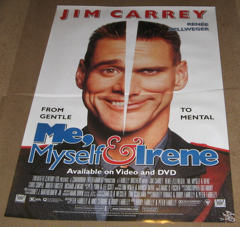 Me, Myself & Irene 2000 Movie Poster 27x40 Used Renee Zellweger, Jim Carrey, Chris Rock, Richard Pryer