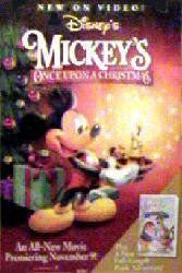 Mickey's Once Upon a Christmas Movie Poster 27x40 Used Walt Disney