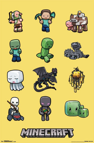 Minecraft - Characters Poster 23x32 RP2148 UPC017681021484