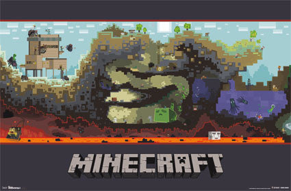 Minecraft – World Game Poster 22x34 RP6303 UPC017681063033