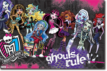 Monster High – Ghouls Rule Poster 22x34 RP5467 UPC017681054673