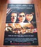 Moonlight Mile Movie Poster 27x40 Used McNally Sagal, Lisa Anne Hillman, Steven Paul Zsenyuk, Murphy Dunne, Careena Melia, Richard Fancy, Lenny Clarke, Rachel Singer, Dustin Hoffman, Roxanne Hart