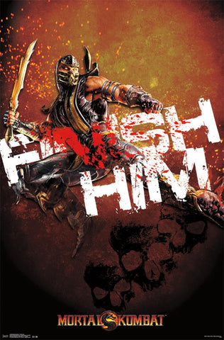 Mortal Kombat - Finish Him Game/Movie Poster 22x34 RP13299 UPC882663032990