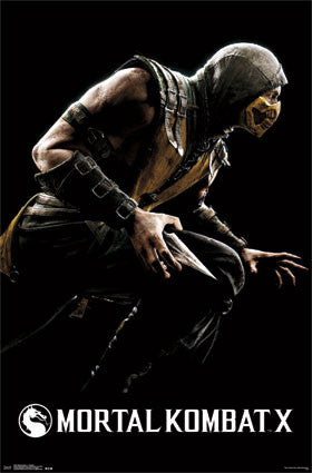 Mortal Kombat X - Scorpion Movie Poster 22x34 RP13581 UPC882663035816