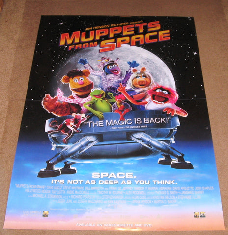 Muppets From Space 27x40 Used Bill Barretta, John Henson, Mark Joy, Thomas Mørk, Richard Fullerton, Katie Holmes, Langley McArol, Dave Goelz, Kathy Griffin, Rob Schneider, Drew Massey, Joshua Jackson