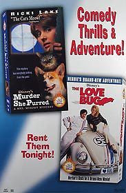 Murder She Purred & the Love Bug Movie Poster 27x40 Used