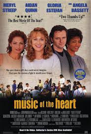 Music of the Heart Movie Poster 27x40 Used Arthur French, Myra Lucretia Taylor, Michael Angarano, Isaac Stern, Jane Leeves, Jade Yorker, Angela Bassett, Gideon Jacobs, Iraida Polanco, Meryl Streep, Betsy Aidem, Kirby Mitchell