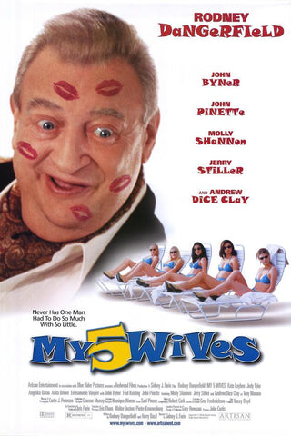 My 5 Wives Movie Poster 27x40 Used Rodney Dangerfield, Andrew Dice Clay