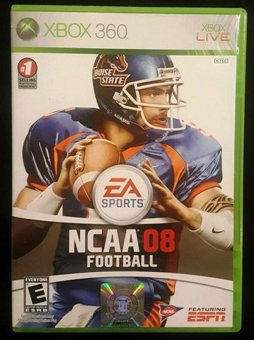 NCAA Football 08 (Microsoft Xbox 360, 2007) Video Game UPC: 014633155679