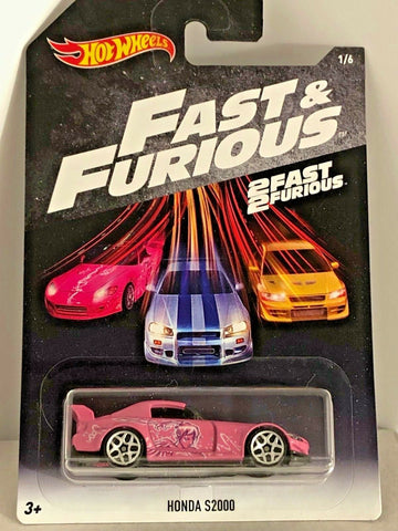 New 2016 Hot Wheels The Fast & The Furious Walmart Exclusive Honda S2000 Pink 1/6