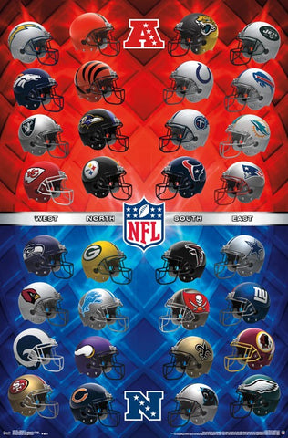 NFL - Helmets 17 Sports Posters 22x34 RP15643 UPC882663056439