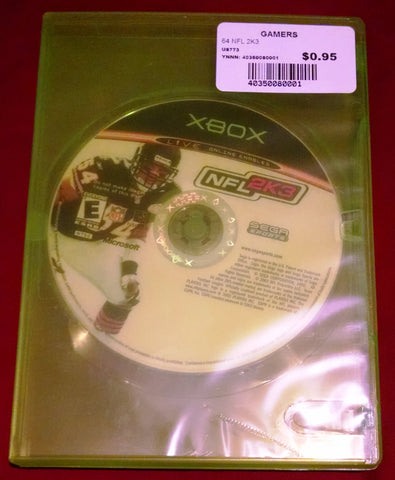 NFL 2K3 for Xbox (2002) Football Video Game UPC: 0010086640229