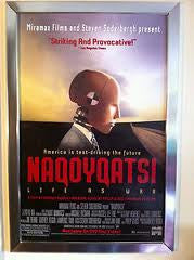 Naqoyqatsi Movie Poster 27x40 Used The Beatles, Madonna, Ronald Reagan, Julia Louis-Dreyfus, Albert Einstein, Thomas A Edison, The Dalai Lama, Fidel Castro, Adolf Hitler, Martin Luther King, Pope John Paul II, Elton John, Bill Clinton, Osama Bin Laden