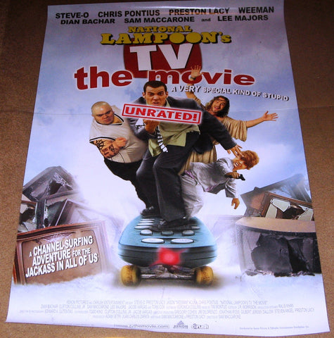 National Lampoon's TV the Movie Unrated Movie Poster 27x40 Used