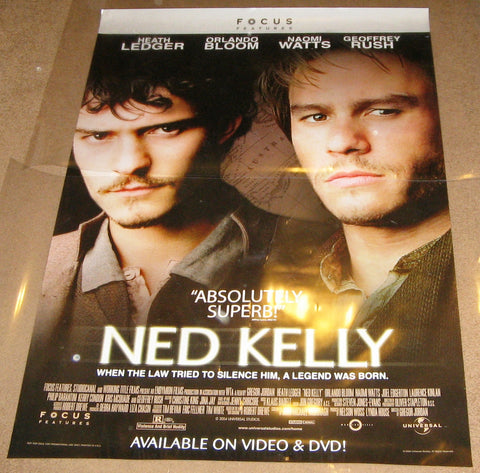 Ned Kelly 2003 Movie Poster 27x40 Used Naomi Watts, Orlando Bloom, Heath Ledger