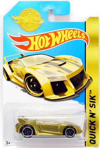 New 2014 Hot Wheels Quick N Sik Gold