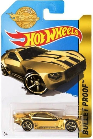 New 2016 Hot Wheels Bullet Proof Gold