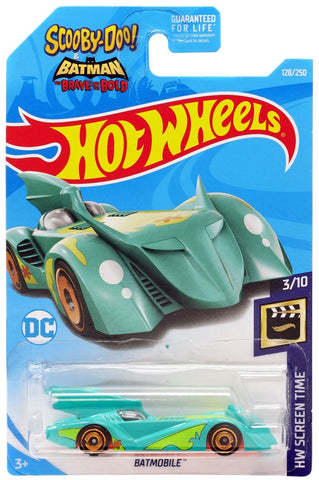 New 2019 Hot Wheels Scooby-Doo! & Batman The Brave And The Bold Batmobile HW Screen Time DC