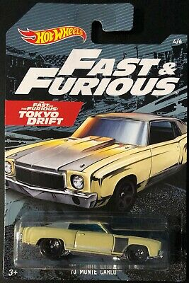 New 2019 Hot Wheels '70 Monte Carlo Fast & The Furious Tokyo Drift