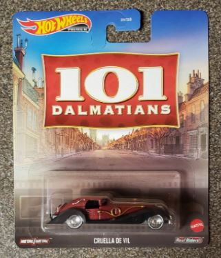 New 2020 Hot Wheels 101 Dalmatians Cruella De Vil Retro Entertainment