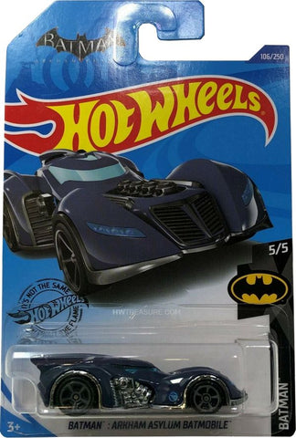 New 2020 Hot Wheels Batman Arkham Asylum Batmobile Treasure Hunt DC