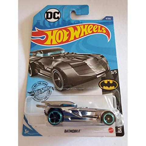 New 2020 Hot Wheels Batmobile Batman DC Black Chrome