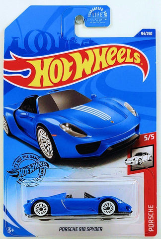 New 2020 Hot Wheels Porsche 918 Spyder Blue