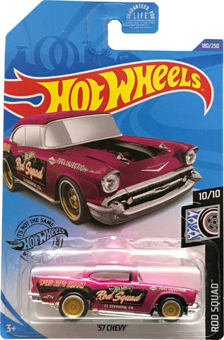 New 2020 Hot Wheels '57 Chevy Rod Squad Super Treasure Hunt