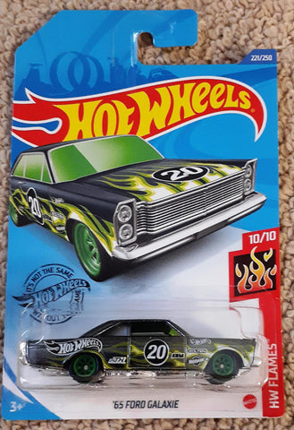 New 2020 Hot Wheels '65 Ford Galaxie Super Treasure Hunt HW Flames