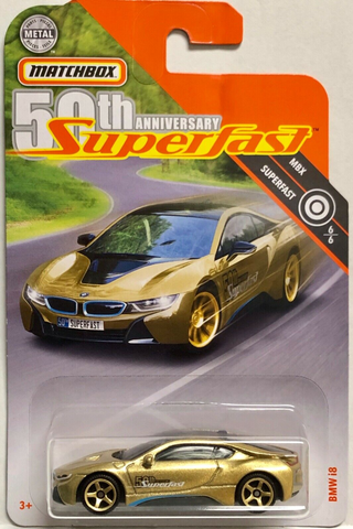 New 2020 Matchbox BMW I8 50th Anniversary Superfast Gold