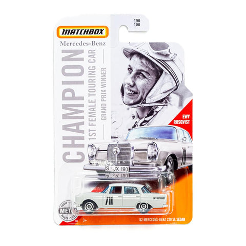 New 2020 Matchbox '62 Mercedes Benz 22E Sedan Champion