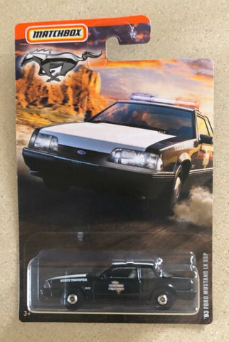 New 2020 Matchbox '93 Ford Mustang LX SSP Police Car
