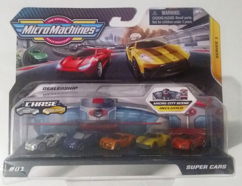 New 2020 Micro Machines Silver Chase Dealership Set #01