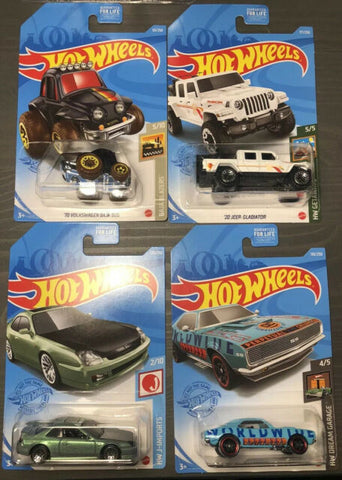 New 2021 Hot Wheels Dollar General Exclusive Set of 4 Cars