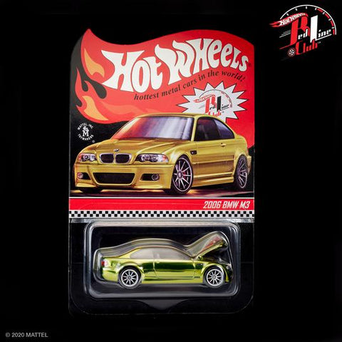 New 2021 Hot Wheels RLC Exclusive 2006 BMW M3 Green